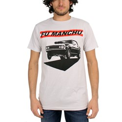 Fu Manchu - Muscle Mens T-Shirt In Silver