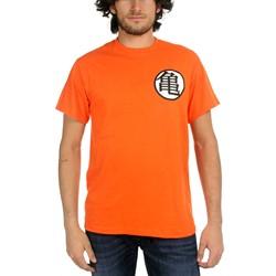 Dragon Ball Z - Mens Kame Symbol T-shirt in Orange