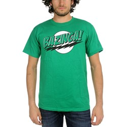 Big Bang Theory - Bazinga Green Lantern Colors Mens T-Shirt in Green