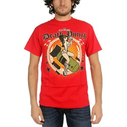 Five Finger Death Punch - Bomber Girl Mens T-Shirt In Red
