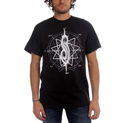 Slipknot - All Hope Star Mens T-Shirt In Black
