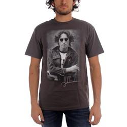 John Lennon - Mens Nyc '72  T-Shirt In Charcoal