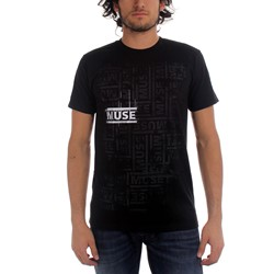 Muse - Repeat Adult T-shirt in Black