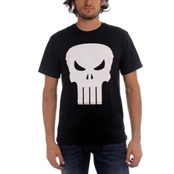 Marvel Comics - Mens The Punisher White Logo T-Shirt In Black