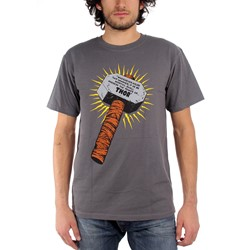 Thor Whosoever Holds This Hammer Mens T-Shirt In Charcoal
