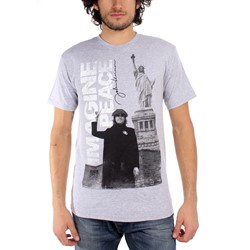 John Lennon - Imagine Adult T-Shirt in Heather Grey