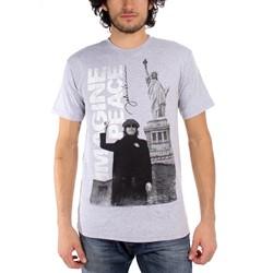 John Lennon - Imagine Adult T-Shirt in Heather Grey