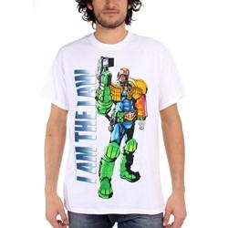 Judge Dredd - Mens I Am the Law - White T-Shirt in White
