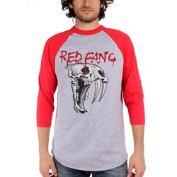 Red Fang - Mens Fang 3/4 Raglan in Red