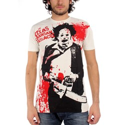 Texas Chainsaw Massacre - Spatter Big Print Mens T-Shirt In Vintage White