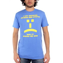 Big Bang Theory - Mens Others Are Stupid Emoticon T-shirt in Dark Blue