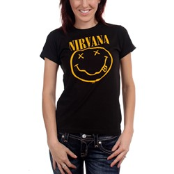Nirvana - Smile Tissue T-shirt Women's T-Shirt in Black