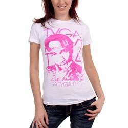 Tyga - Womens Swirly Colors T-shirt in White
