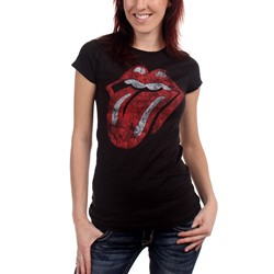 Rolling Stones - Distressed Tongue Juniors T-shirt