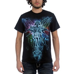 Cynic - Mens Rainbow T-Shirt in Black