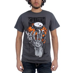 Clutch - Mens Hess 454 T-Shirt in Black