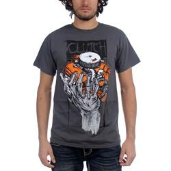 Clutch - Mens Hess 454 T-Shirt in Black
