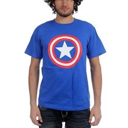 Marvel Comics - Mens Shield On Royal T-Shirt In Royal