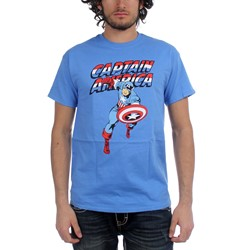 Captain America Adult T-Shirt In Iris