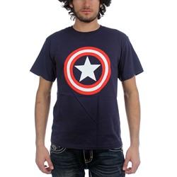 Marvel Comics - Mens Shield On Navy T-Shirt In Navy
