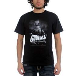 Godzilla -  B&W King Of The Monsters Adult S/S T-Shirt in Black