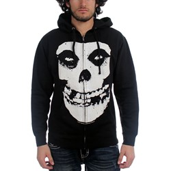 The Misfits - Fiend Skull Zip-Up Mens Hoodie In Black