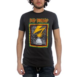Bad Brains Distressed Capitol Fitted Jersey T-Shirt In Coal