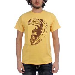 Velvet Underground Vu Says Fitted Jersey T-Shirt In Mustard
