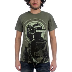 Across the Sun - Mens Gas Mask T-Shirt in Green