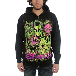 GWAR - Mens Faces Hoodie in Black