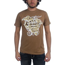 Ice Cream Man - Mens Ornate T-Shirt in Tan
