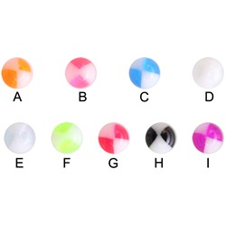 UV Beach Ball Edition 4 for 14g and 12g Jewelry