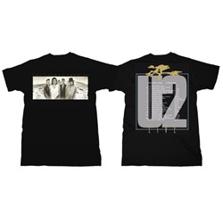 U2 - Joshua Tree Adult Mens Fitted T-shirt in Black