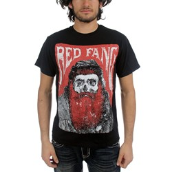 Red Fang - Mens Bearded Skull T-Shirt in Black