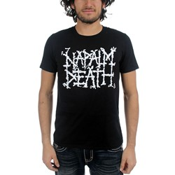 Napalm Death - Mens Logo T-Shirt in Black