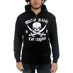 Metal Blade Records - Mens Pirate Logo Hoodie in Black