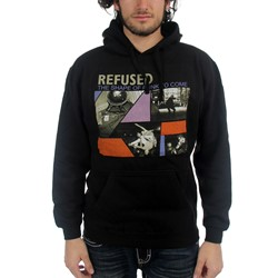 Refused - Mens Shape Of Punk Black Pullover Sweater
