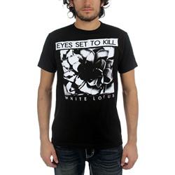 Eyes Set To Kill - White Lotus Mens T-Shirt In Black