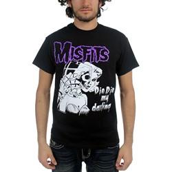 The Misfits - Die Die My Darling Adult T-Shirt In Black