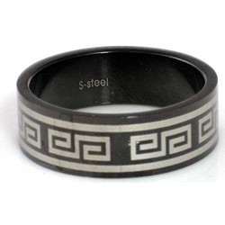 Blackline Tribal Design Stainless Steel Ring by BodyPUNKS (RBS-009)