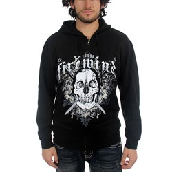 Firewind - Mens Skull and Swords Hoodie in Black