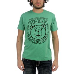 Ted - Mens Charles Brewkowski T-Shirt in Kelly Green