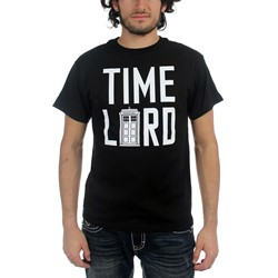 Dr. Who - Mens Time Lord With Tardis T-Shirt