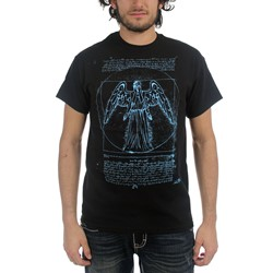 Dr. Who - Mens Vitruvian Angel T-Shirt in Black