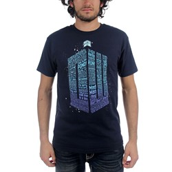 Dr. Who - Mens Logo Of Words T-Shirt in Navy