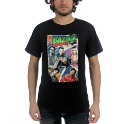 Big Bang Theory - Mens Bazinga Comic Book Cover T-shirt in Black