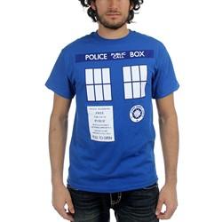 Dr. Who - Mens Tardis Trompe T-Shirt