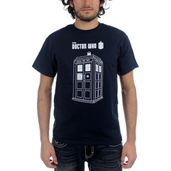 Dr. Who - Mens Series 7 Linear Tardis T-Shirt in Navy
