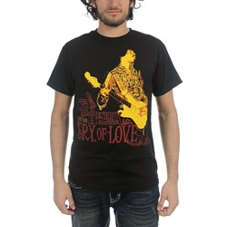 Jimi Hendrix - Mens Cry Of Love T-shirt in Black
