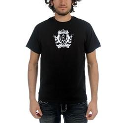 Emperor - Mens Royal Crest T-shirt in Black